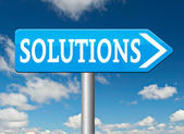 Solutions to solve problems — Foto Stock
