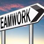 Teamwork road sign — Stock Photo #58739735