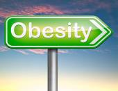 Obesity road sign — Stock Photo