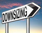 Downsizing sign — Stock Photo