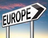 Europe sign — Stock Photo
