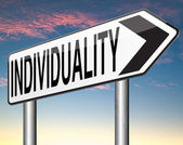 Individuality sign — Stock Photo