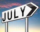 Next july — Stok fotoğraf