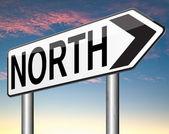 North sign — Stockfoto
