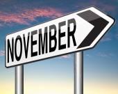 Listopadu příští měsíc — Stock fotografie