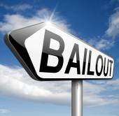 Bailout or bankruptcy — Stock Photo