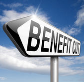 Benefit cut — Stock Photo