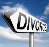 Divorce sign — Stock Photo