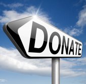 Donate road sign — Stock Photo