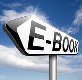 E-book sign — Zdjęcie stockowe