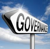 Governance sign — Stock Photo