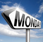 Monday sign — Stock Photo