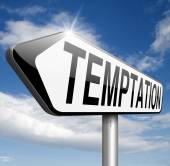 Temptation sign — Stock Photo