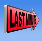 Last minute — Stock Photo