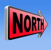 North sign — Stock Photo