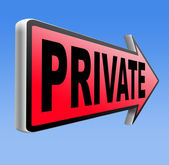 Private and personal information — Stock Photo