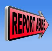 Report abuse sign. — Stock Photo