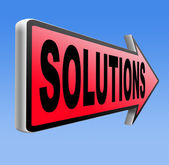 Solutions to solve problems — Stock Photo