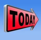 Today agenda — Stock Photo