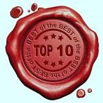Top 10 stamp — Stock Photo #59056009