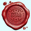 Well done stamp — Stock Photo #59056081