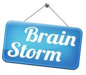 Brain storming teamwork — Stock Photo