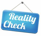 Reality check — Stock Photo