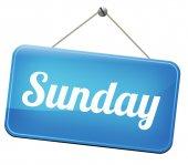 Sunday sign — Stock Photo