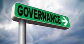 Governance sign — Stock Photo