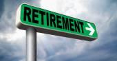Retirement sign — Stock Photo