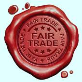 Fair trade label — Stock Photo