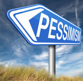 Pessimism sign — Stock Photo