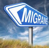Migraine acute — Stock Photo