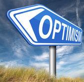 знак оптимиста — Стоковое фото