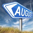 August sign — Stock Photo #59969815
