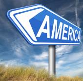 America road sign — Stock Photo