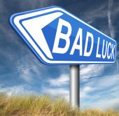 Bad luck misfortune — Foto Stock