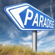 Paradise sign — Stock Photo #59974171