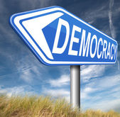 Democracy sign — Stock Photo