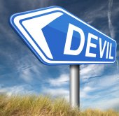 Devil temptation — Stock Photo