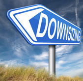 Downsizing sign — Stock Photo