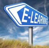 Signo de e-learning — Foto de Stock