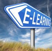 Znak e learningu — Zdjęcie stockowe