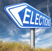 Elections sign — Stock Photo