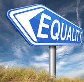Equality for all and solidarity equal rights — Stock Photo