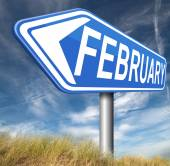 February sign — Stock Photo
