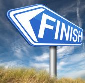 Finish line — Stock Photo