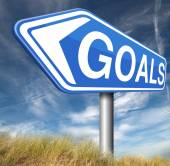 Goals and ambition way to success — Stockfoto
