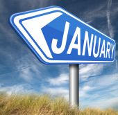 January first month of next year — Photo