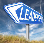 Leadership sign — Stock Photo